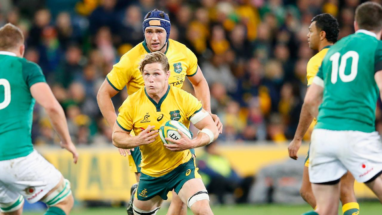 Michael Hooper had a quiet game for the Wallabies. (Photo by Darrian Traynor/Getty Images)