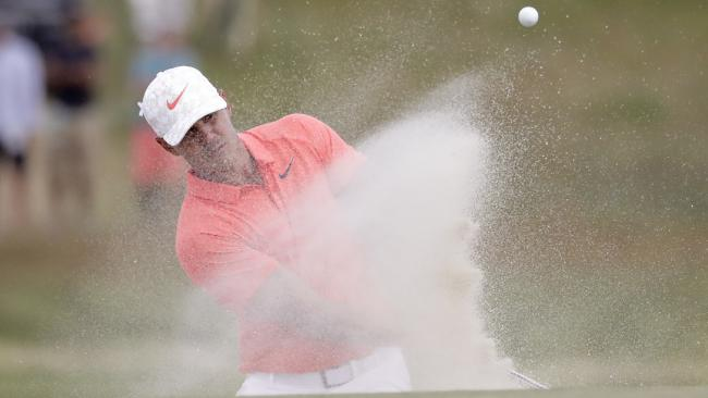 Brooks Koepka claimed a share of the lead heading into the last day of the US Open. Picture: AP