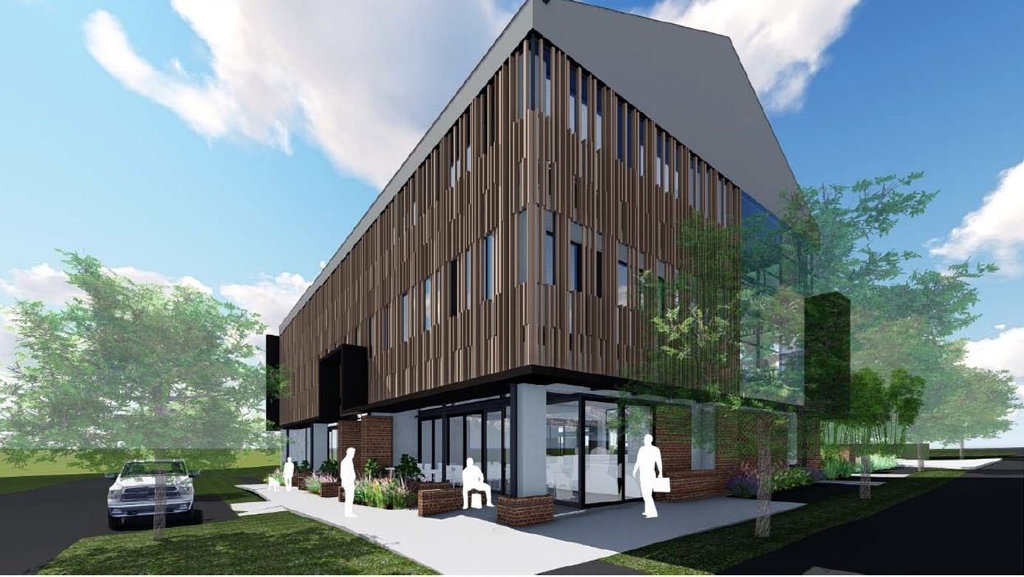 Raff Campbell's 3D renderings of the proposed offices on the corner of Raff and Campbell Streets, East Toowoomba.
