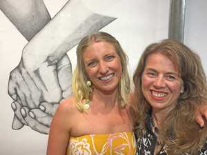 Exhibiting artist Kyarna with Caroline Taylor-Knight