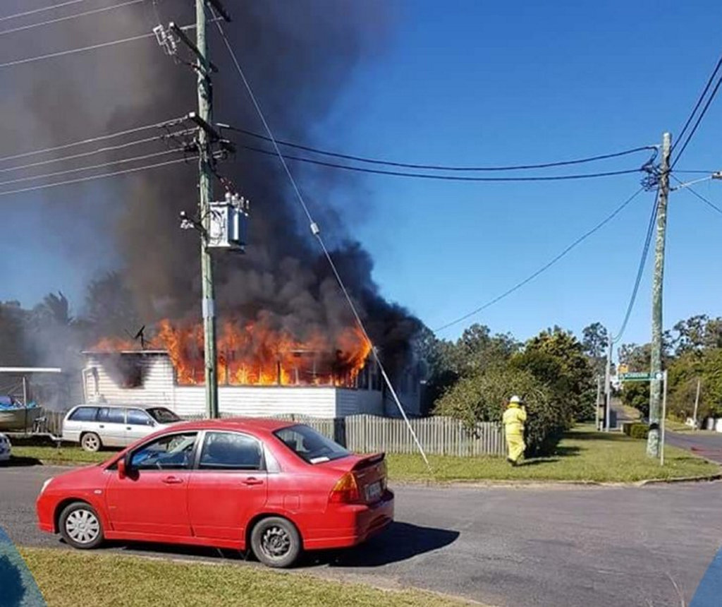 House fire in Granville on June 18.