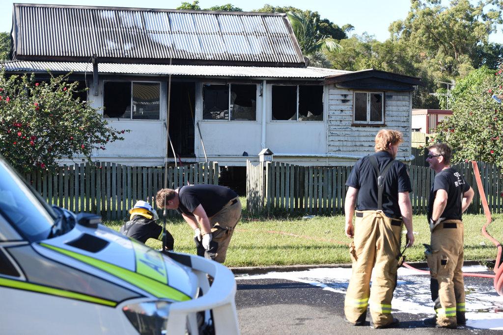 House fire in Blackbourn St, Granville.