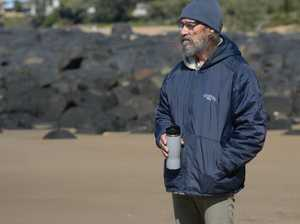 Nev Swann Feels the cold at Kellys Beach, Bargara