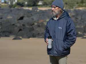 Nev Swann Feels the cold at Kellys Beach, Bargara
