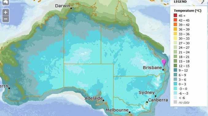 THE Coast experienced it coldest morning of the year today, with temperatures dropping to teeth-chattering low numbers. The map indicates what the temperatures will feel like on the Sunshine Coast this week.