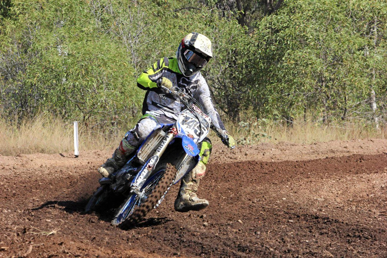 FOOT OUT: Tyson Baxter finished fourth in the Senior Open Category in round five of the Central Queensland MotorX Championships.