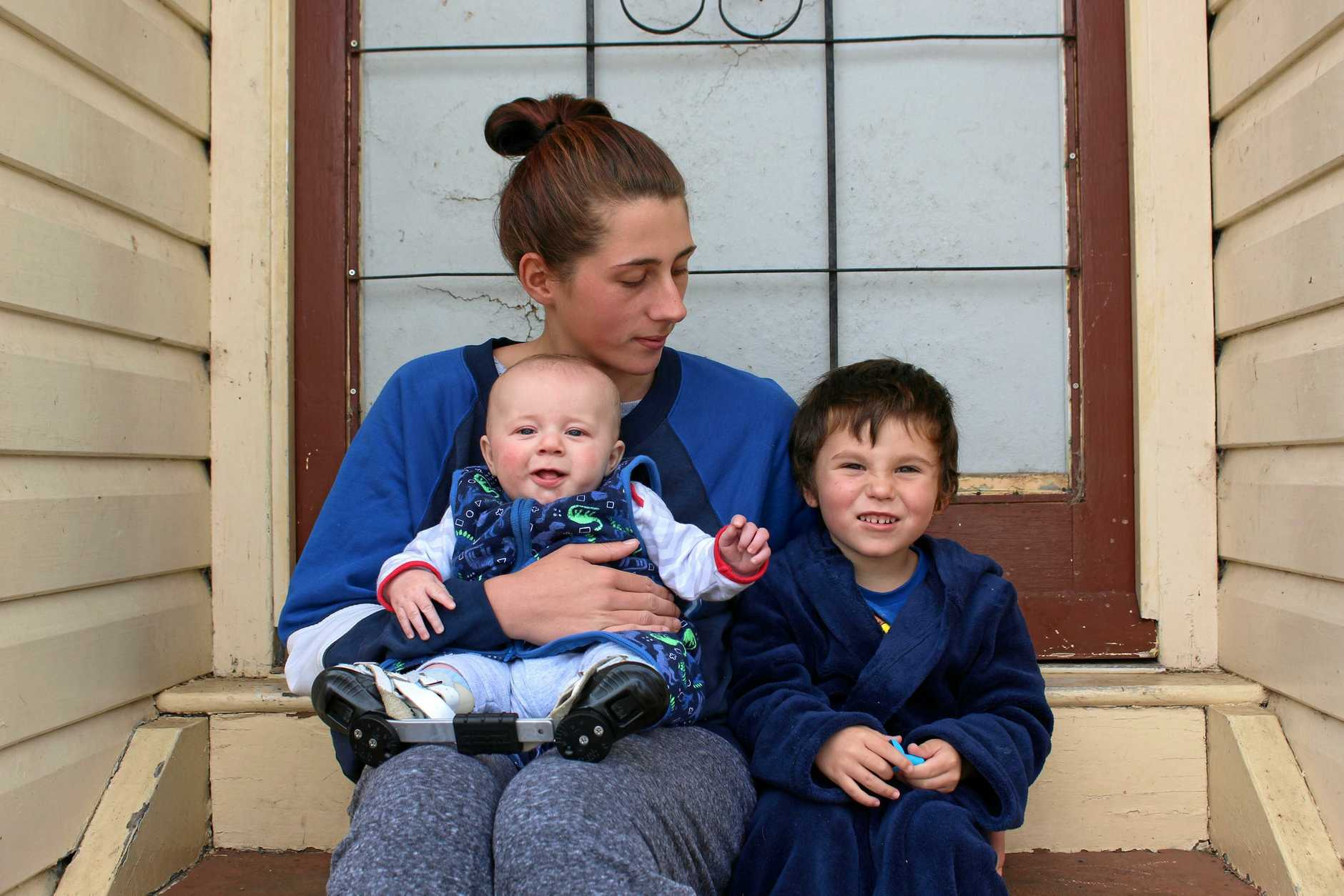 NO ROOM TO RENT: Warwick mother-of-two Kaliya Beverley has been tirelessly filling out rental applications to find a safe place to raise her kids, but two years she hasn't had any luck.