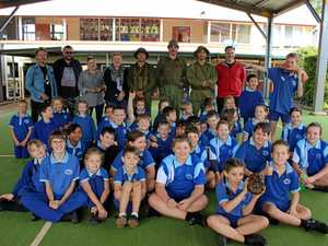 Wooroolin State School Danger Close Visit.