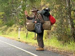 Stop and meet a real Aussie swagman