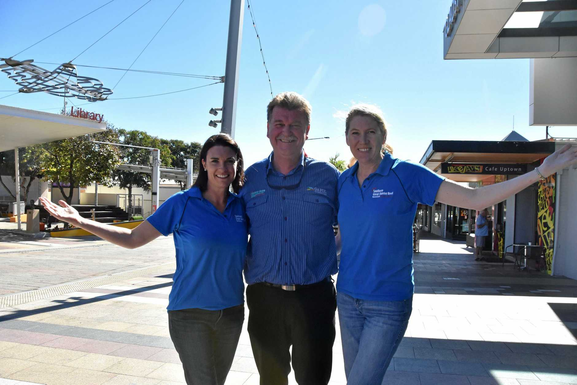 Bundaberg Southern Great Barrier Reef Tourism general manager Katherine Reid, Gladstone Area Promotion Development Limited chief executive Darryl Branthwaite and Capricorn Enterprise chief executive Mary Carroll met in Gladstone to discuss their tourism strategy for the next financial year.