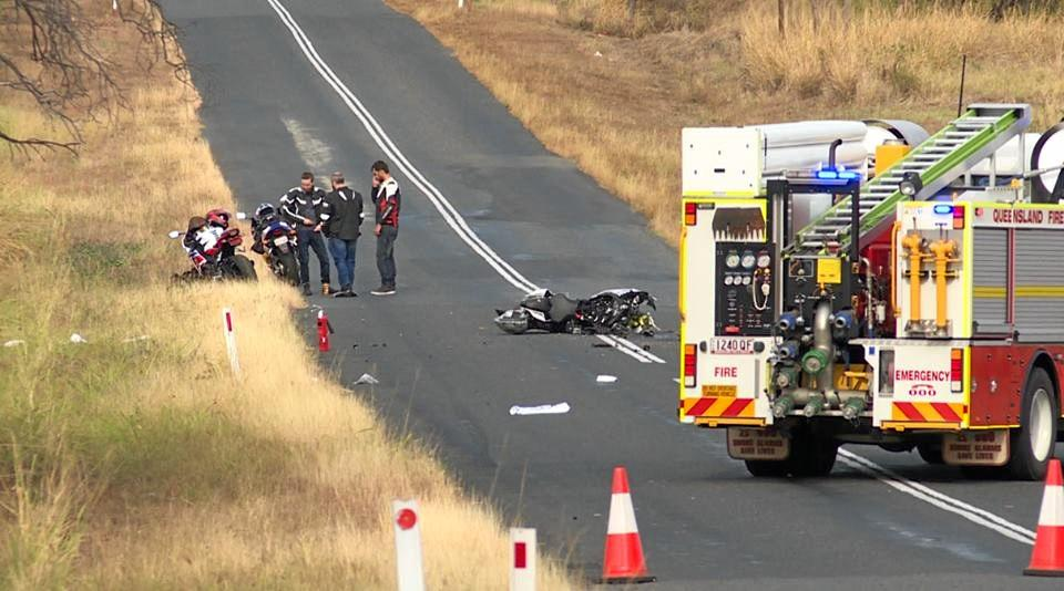 FATAL ACCIDENT: The scene of a motorcycle crash near Kabra where a 32 year-old Berserker man lost his life on Saturday.