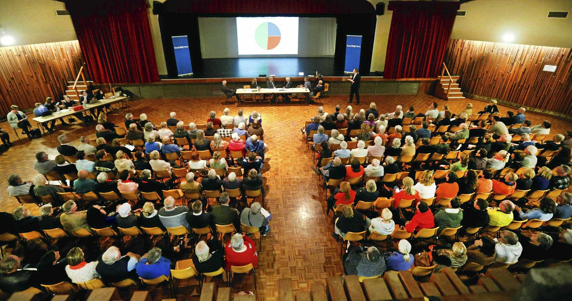More than 200 people have gathered at the Tweed Civic Centre to share their thoughts on the Tweed Valley Hospital.