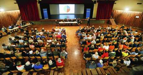 More than 200 people gathered at the Tweed Civic Centre to listen and ask questions about the new Tweed Valley Hospital.