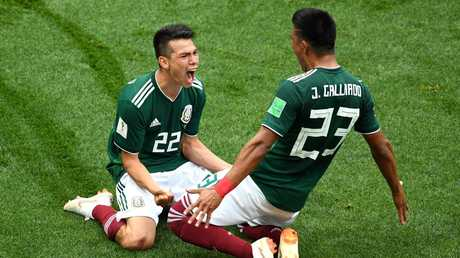 Hirving Lozano was the hero for Mexico. Picture: Getty.