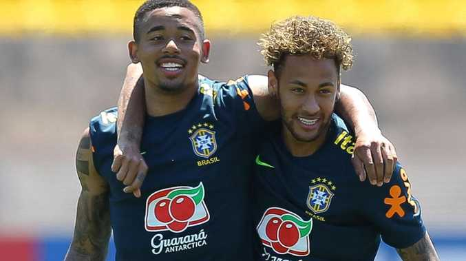Gabriel Jesus and Neymar form a potent attacking duo for Brazil.