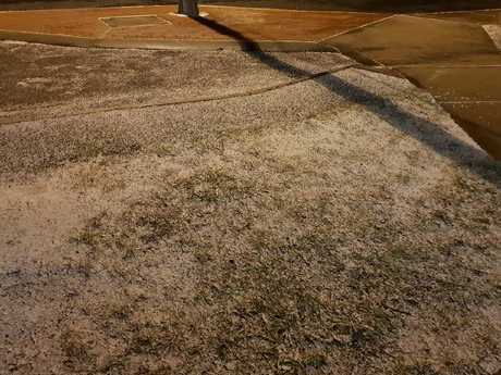 Grass was covered in frosty ice in Guyra. Picture: Facebook