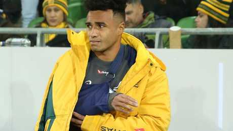 Will Genia was forced off the field (Scott Barbour/Getty Images)