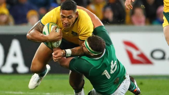 Israel Folau would be a danger in the centres. (Photo by Scott Barbour/Getty Images)