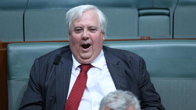 A tired Mr Palmer during Question Time in Parliament House. Picture: Gary Ramage