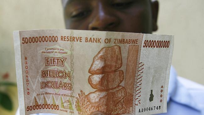 Zimbabwe experienced hyperinflation in 2008.