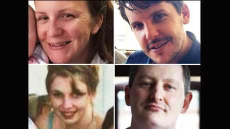 Dreamworld victims Kate Goodchild Luke Dorsett Roozi Araghi and Cindy Low. Picture: Supplied