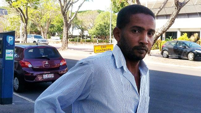 Omer Hassan Eltayeb, 34, leaves the Darwin Local Court on Tuesday after pleading guilty to drink-driving and driving without due care after crashing his road train on the Stuart Hwy in May 2018. Picture: Jason Walls