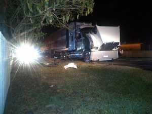 Truck crash at notorious corner on Pacific Highway