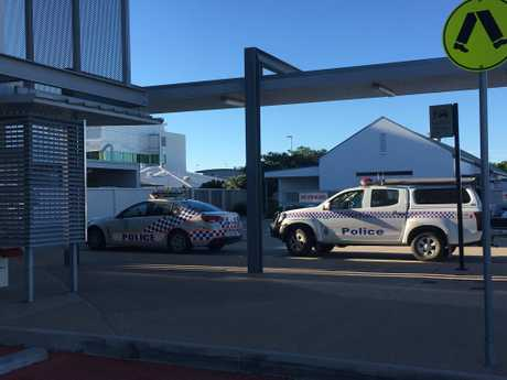 A man has presented at Mackay Base Hospital emergency department with gunshot wounds.