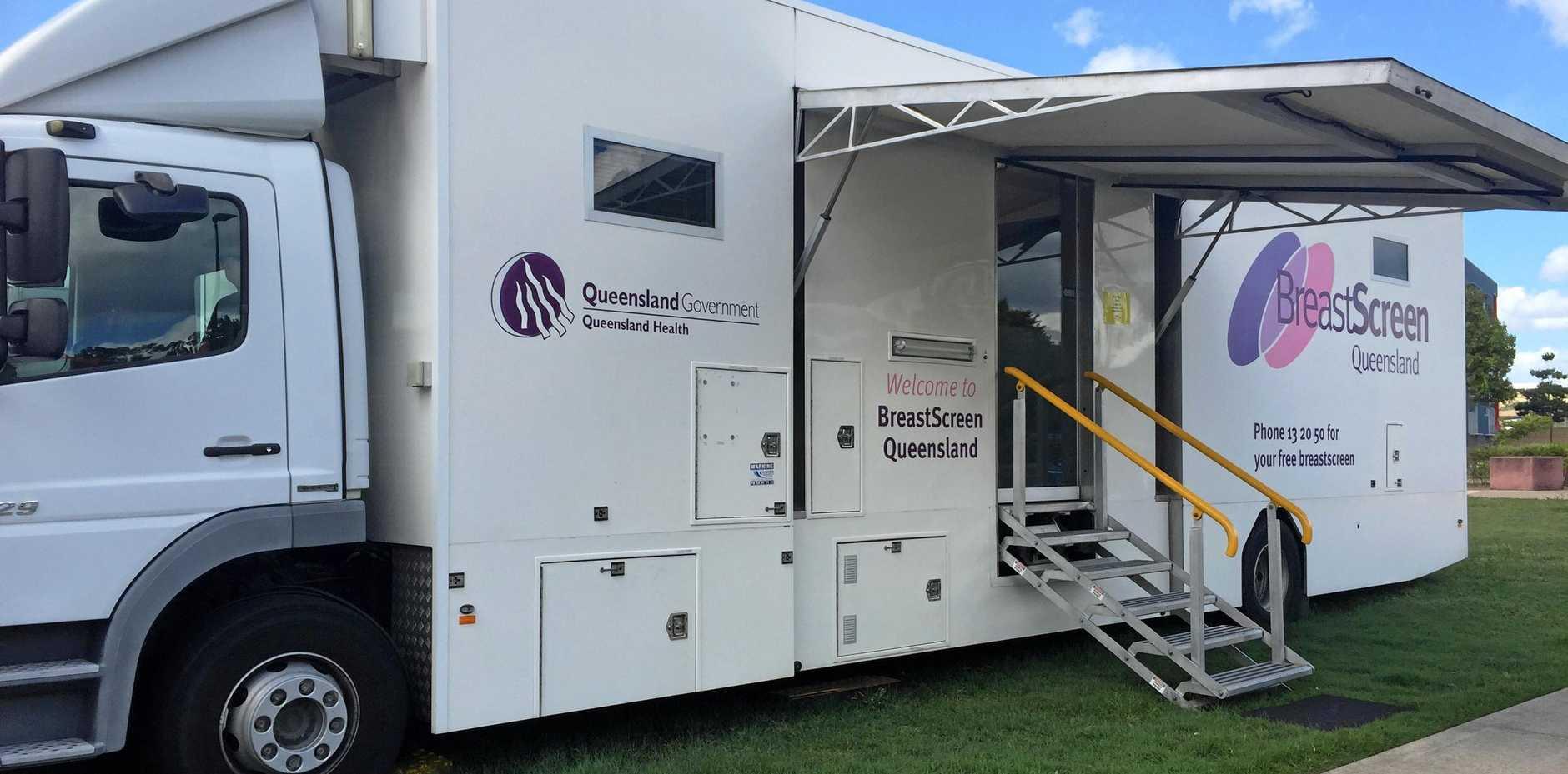 VITAL SERVICE: BreatScreen Queensland's digital mobile service coming to the region.