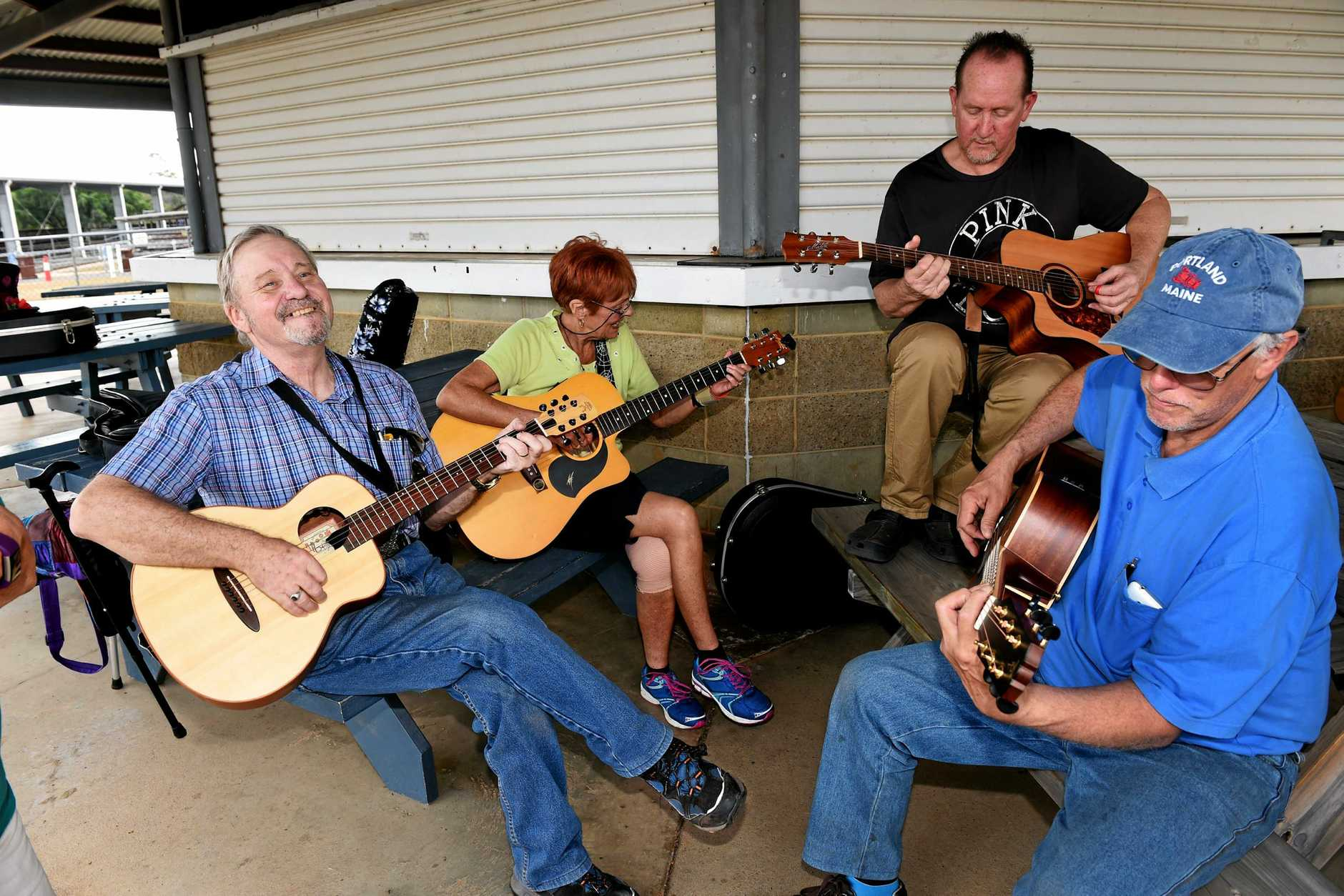Rob James lead 'Big Bad Bruce' during the guitar workshop at last year's Maryborough Ukulele Muso's retreat at the Maryborough Showgrounds.