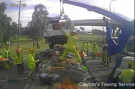 Tow Truck Operator at Clayton's Towing Anthony Belbin has been praised for his efforts in assisting those in a four-vehicle pile-up on a busy highway.