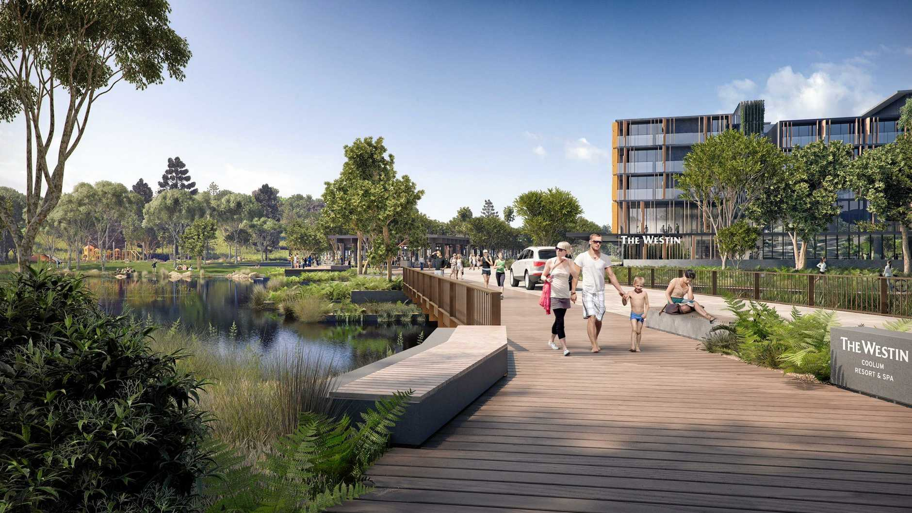 An artist's impression of Sekisui House's Yaroomba Beach proposal.