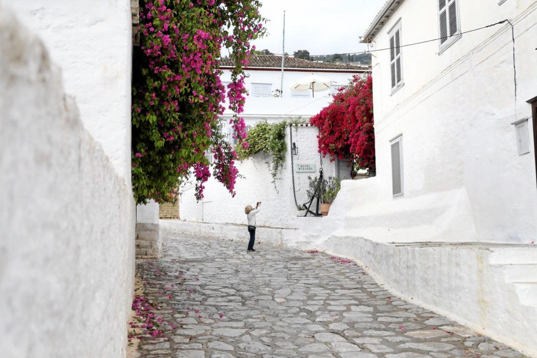 CURIOUS IRENE: Capturing the stark contrasts of colours in the back streets of a town that Irene visited during her Greece trip.