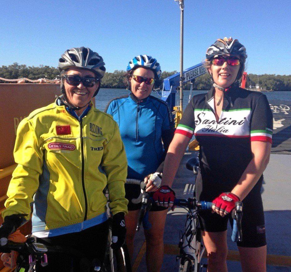 (L-R) Maddy Pride Tracy Fleming and Paula Franklin were training together for charity ride Cycle 4 ASD KIDS, before an cycling accident left Maddy and Tracy in hospital.