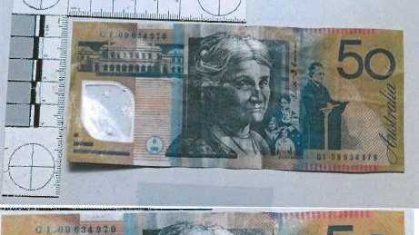 The household item used on fake cash to make it more 'real'
