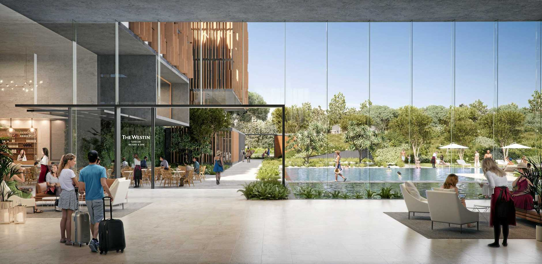 The Westin Coolum Resort and Spa is one aspect of Sekisui House's Yaroomba Beach proposal.