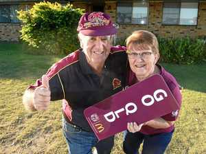 Blue skies for QLD Origin supporters after window smashed