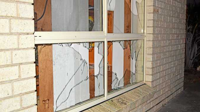 Unknown persons are believed to have caused extensive damage to a home on Wodalla Mews, Point Vernon on Tuesday night.
