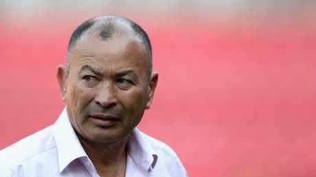Eddie Jones looks on at Ellis Park in Johannesburg.