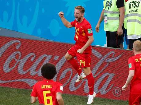Dries Mertens scored the opening goal for Belgium against Panama.