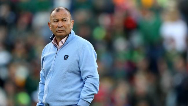 England coach Eddie Jones looks on in Bloemfontein.