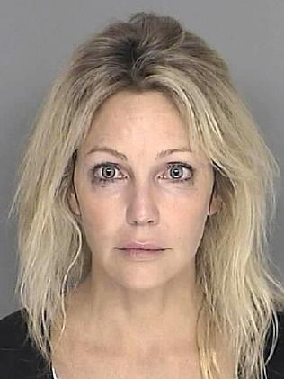 Heather Locklear after an arrest in 2008. Picture: Santa Barbara County Sheriff's Dept. via Getty Images