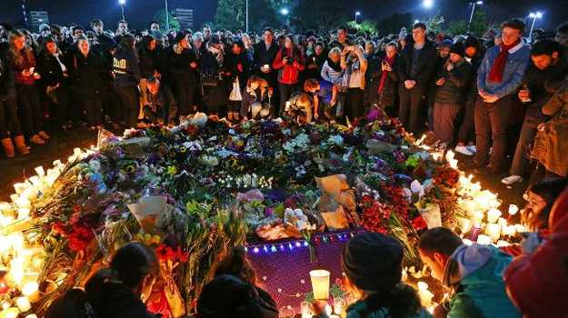 More than 10,000 people attended a vigil at Princes Park to remember Eurydice Dixon. Picture: Michael Dodge/Getty Images
