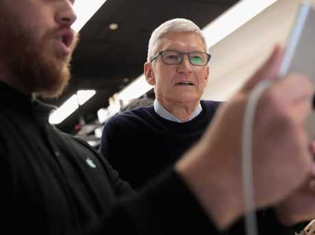 The Australian court case against Apple US succeeded despite the failure of others in the US. Pictured is CEO Tim Cook. Picture: AFP/Getty/Eric Thayer