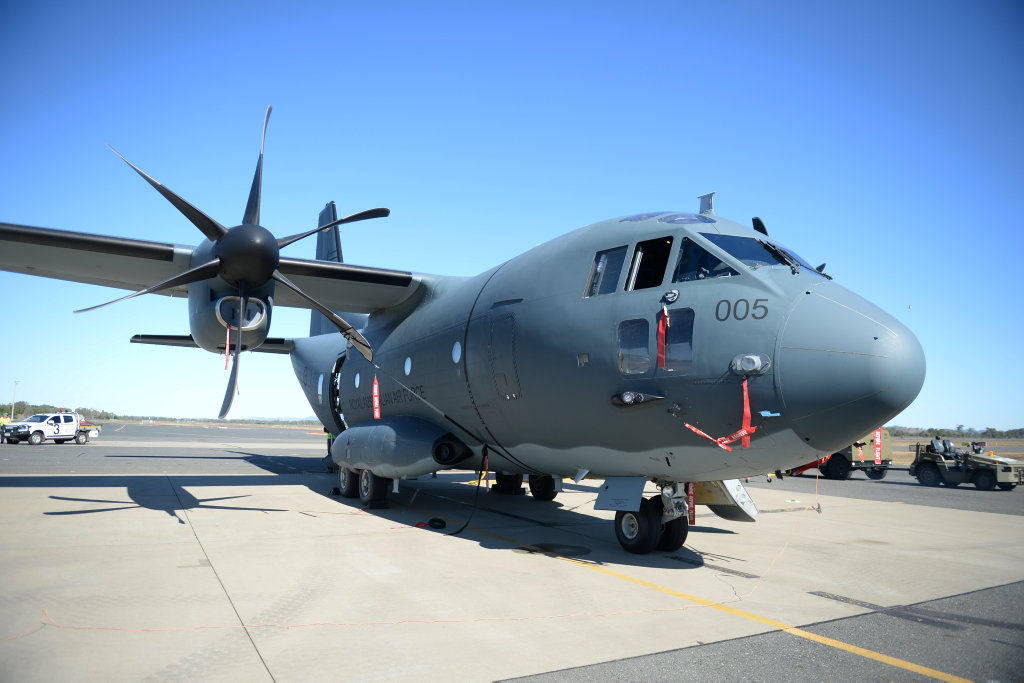 RAAF C-27J Spartan at Rockhampton airport.