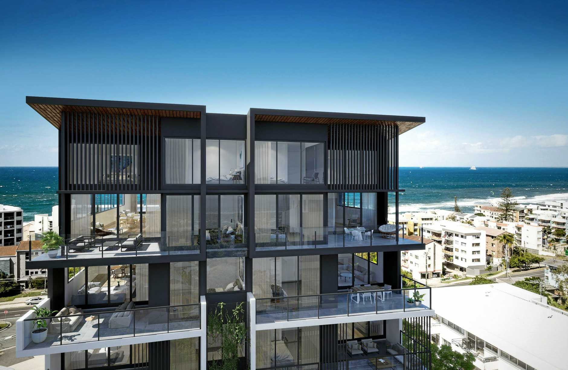 Artist impression of Mosaic Property Group's Cyan project at Kings Beach, scheduled to begin construction in February 2017.