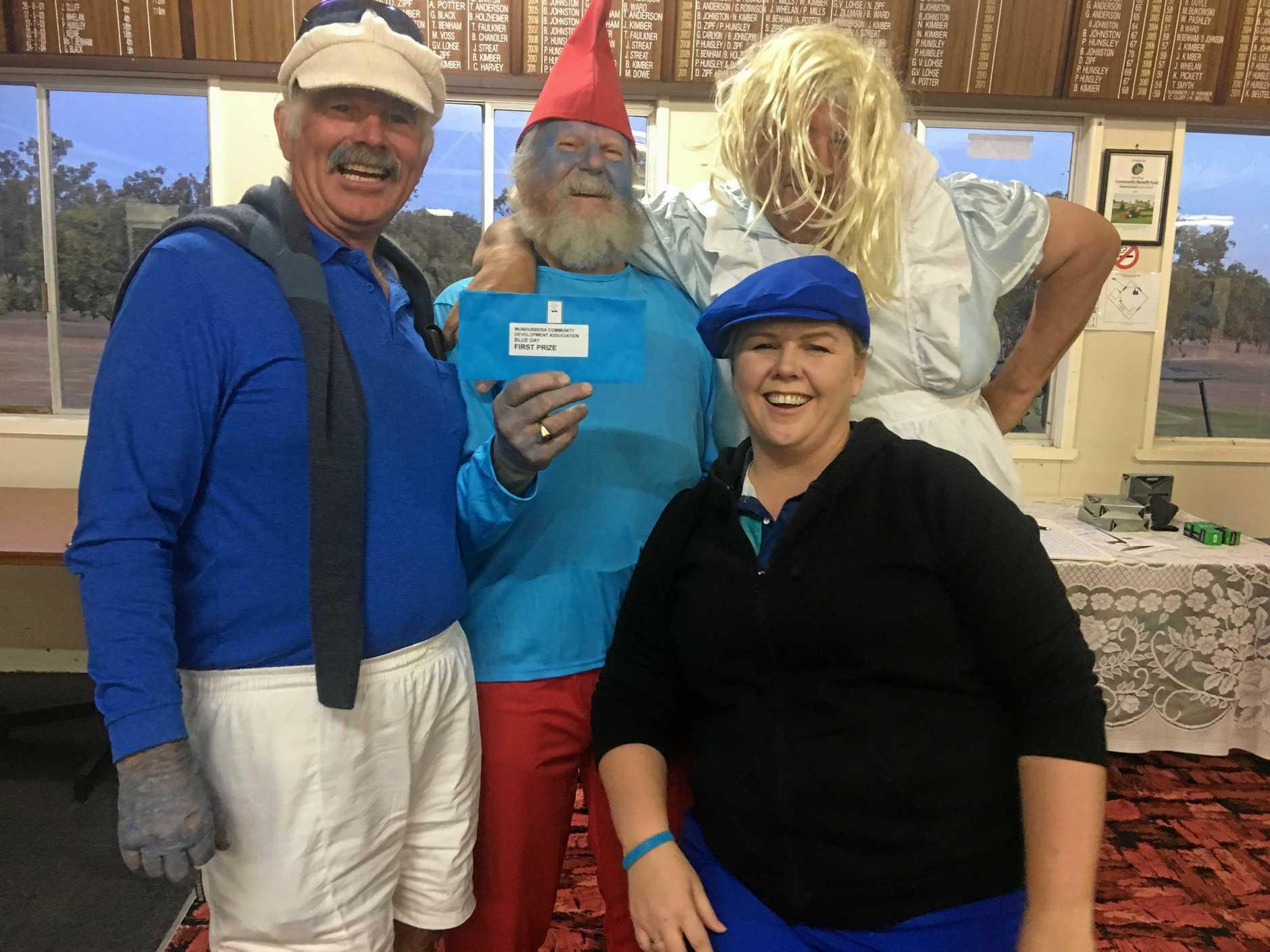 Ian Maskovich, Garnet Keune, Louie Zipf and Bobby-Leigh Redgard at the MCDA golf day.