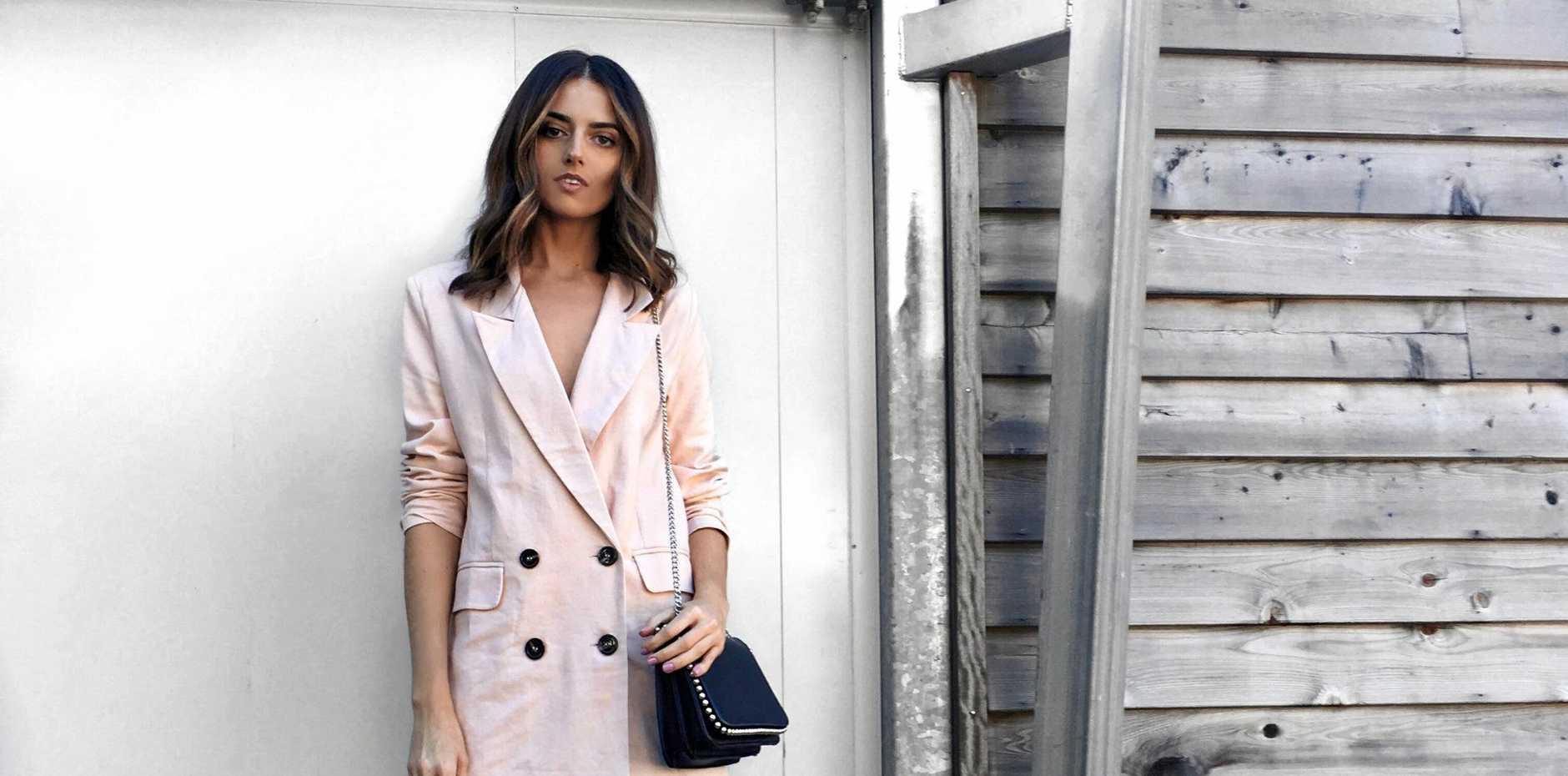 Look One: Blazer Dress.