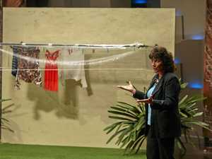 Beecher woman pitches Clothesline Brolly on Shark Tank