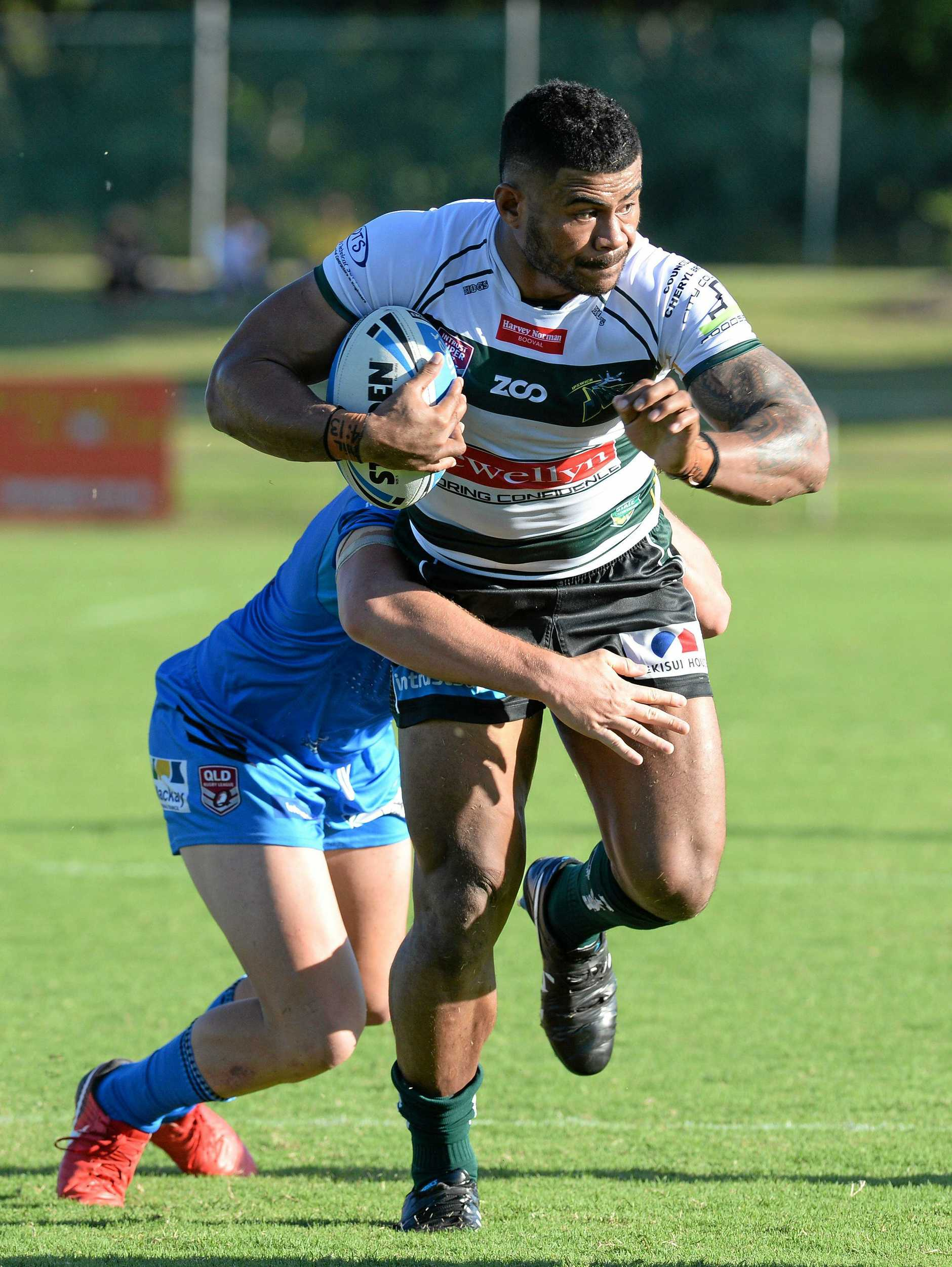 BATI BOUND: Ipswich Jet Pio Seci will represent Fiji against Richie Pandia's Papua New Guinea in the Pacific Nations Test in Sydney on Saturday.